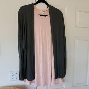 Dress and brandy Melville cardigan
